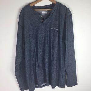 Columbia Blue XL Casual L/S Shirt